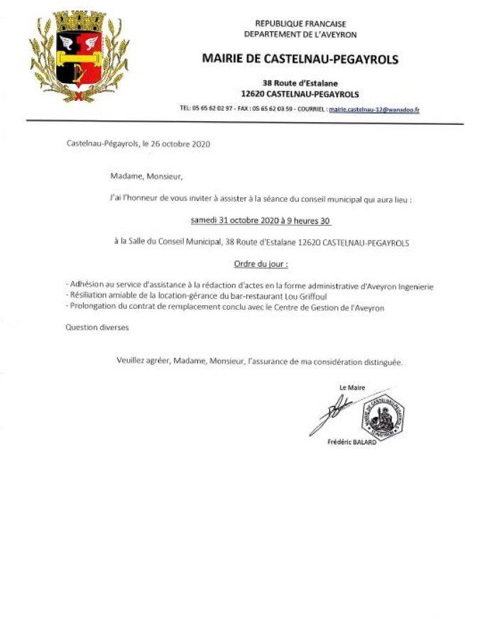 ODJ CM 31.10.2020 AFFICHAGE